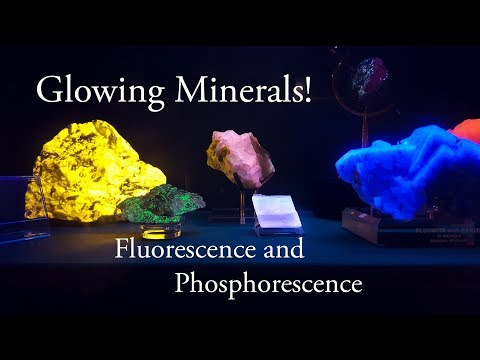 Glowing Minerals under Black Light!  Fluorescence & Phosphorescence