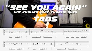 Wiz Khalifa See You Again ft. Charlie Puth guitar cover melody TABS