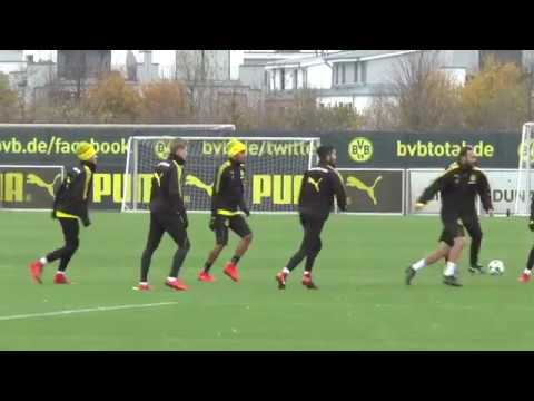 BVB-Training mit Pierre-Emerick Aubameyang am 18. November