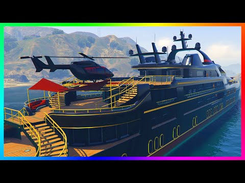 GTA 5 DLC ULTIMATE YACHT, MANSIONS & NEW APARTMENT CUSTOMIZATION & BUYING SPREE! (GTA 5)