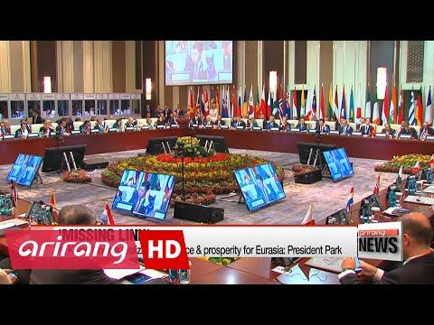 N. Korea hinders realization of peace & prosperity for Eurasia: President Park