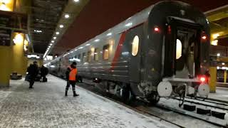 Фото Прибытие скорого поезда номер 8 Брест Москва на станцию Минск Пассажирский