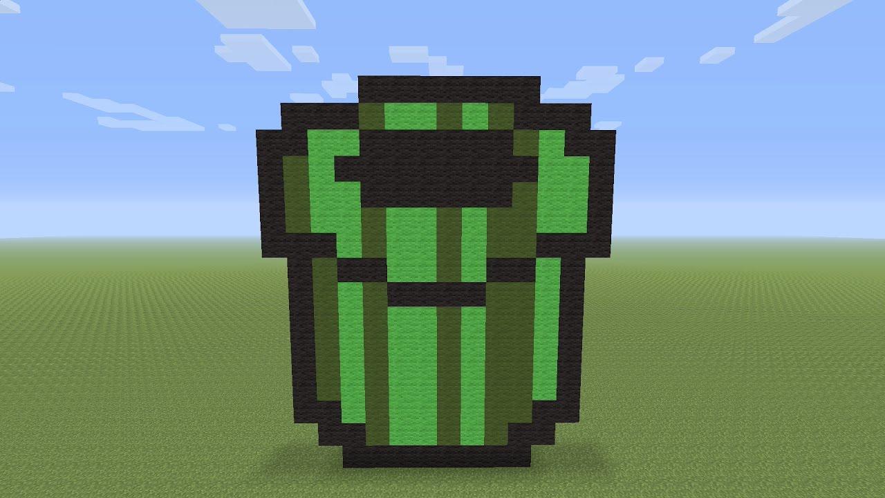 Minecraft Pixel Art Mario Tube