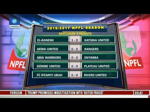 Review Of 2017 NPFL League Matchday 4 Result
