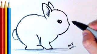 How to Draw Bunny / Rabbit (very Easy) - Step by Step Tutorial