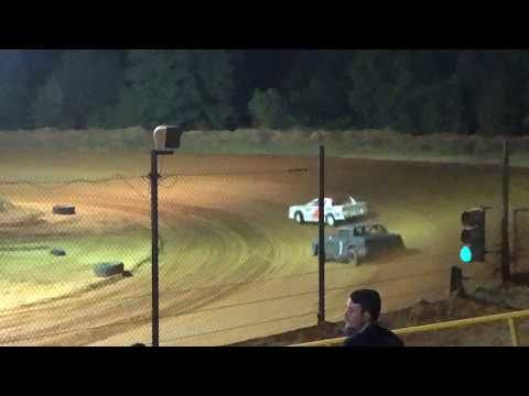 Pure stock dirt track racing southern raceway.