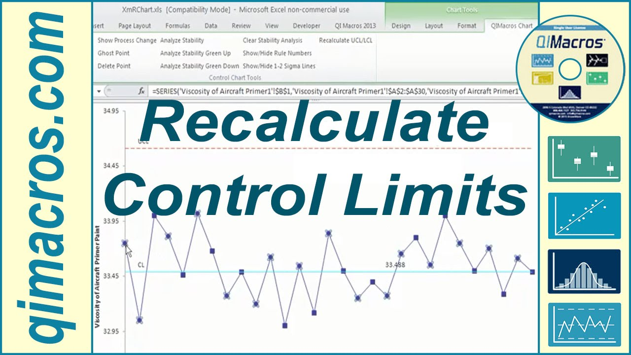 also recalculate control limits ucl lcl on  chart youtube rh