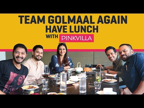 Team Golmaal Again has Lunch with Pinkvilla | Bollywood | Tabu | Rohit Shetty | Shreyas Talpade