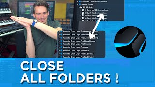 How to close all Folders with one AWESOME Shortcut! #StudioOneMinute