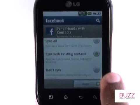 Facebook | LG Optimus Chat | The Human Manual