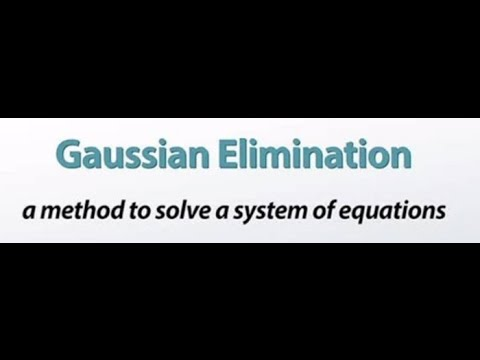 Solving system of simultaneous equations by Gaussian Elimination Method.