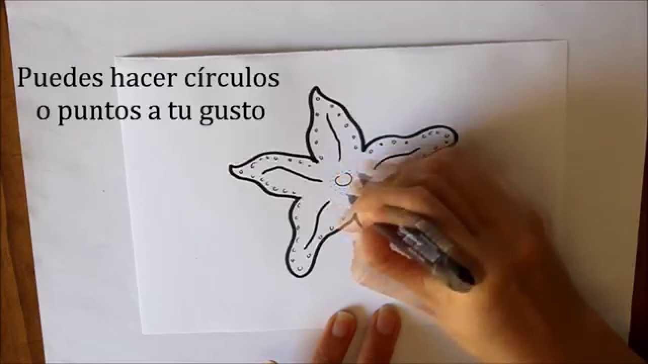 Cómo dibujar una Estrella de Mar Fácil Dibuja Conmigo Dibujos de ...