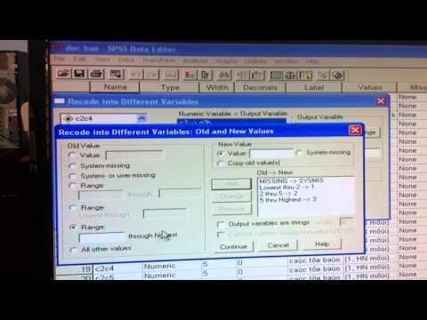Mã hóa số liệu với phần mền SPSS- Nguyễn Luân