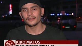24 Oras: Indie film actor Kiko Matos, inaming sinuntok niya si Baron Geisler sa restaurant