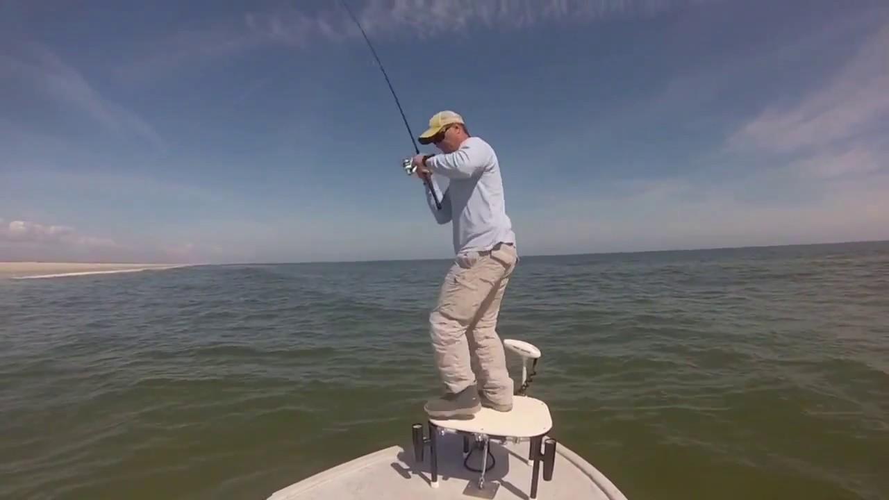 Wrightsville Beach Schooling Redfish       Video - Fishing