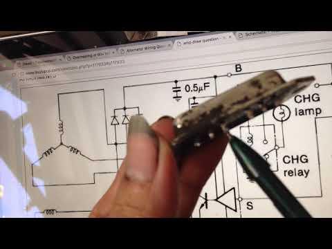 Alternator repair DIY …  Oooldie Isuzu Panther 2300 diesel (1995)  ..  Schematic diagram