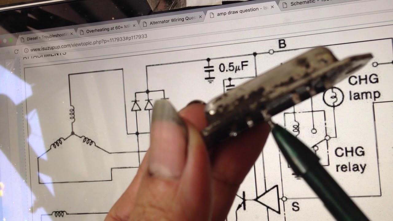 Alternator    repair DIY  Schematic    diagram     Important       Isuzu       Panther   Crosswind  YouTube