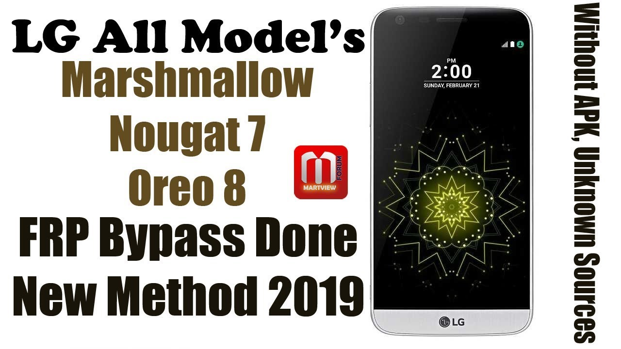 LG All Model's FRP Bypass, Remove Google Account All Version 2019