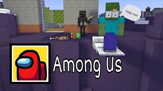 Monster School : Among Us Challenge Part 3 - Minecraft Animation