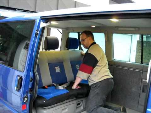 Vw T4 Multivan Ii Sitzbank Alleine Ausbauen Youtube