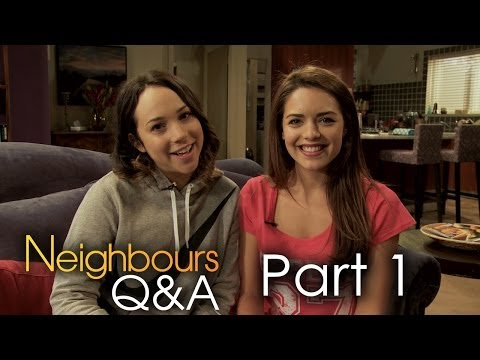Ariel Kaplan Imogen and Olympia Valance Paige Part 1  Neighbours Q&A