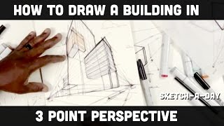 How to draw a building (three point perspective)