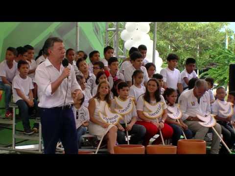 Presidente Juan Manuel Santos durante el lanzamiento del Proyecto de Infraestructura Educativa