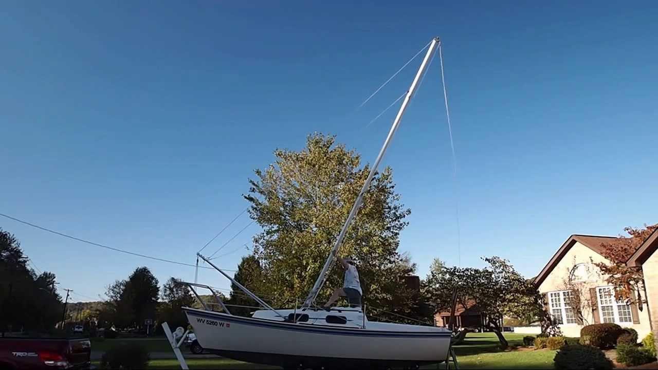 Sailboat mast raising system youtube sailboat mast raising system publicscrutiny Images
