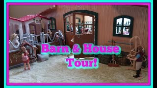 🐎NEW! Schleich Horse House, Barn And Stable Tour!🐎First Day TV🌷
