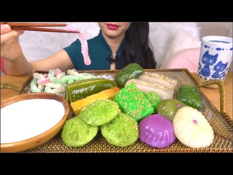 ASMR VIETNAMESE DESSERT | ASIAN SWEETS | CHEWY EATING SOUNDS