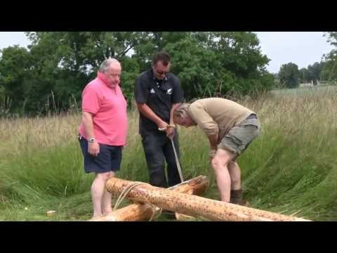 Glamping Tipis in France  Erection Day part 1
