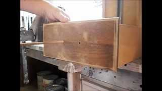 Furniture painting techniques and wood working tips. How to fill hardware holes to replace the hardware with something different.