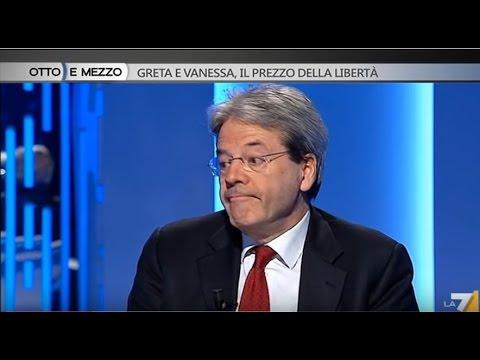 Lilli Gruber incalza Paolo Gentiloni: 'E' stato pagato il riscatto, sì o no?'