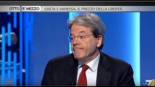 Lilli Gruber incalza Paolo Gentiloni: \'E\' stato pagato il riscatto, sì o no?\'