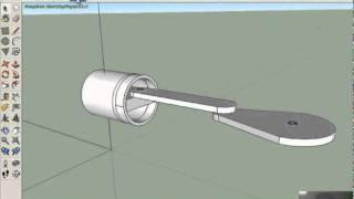 Video aula Pistão - Sketchup e SketchyPhysics -(2 de 2 )