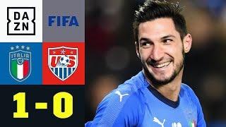 Squadra Azzurra holt sich Sieg nach Lehrbuch: Italien - USA 1:0 | Testspiel | DAZN Highlights