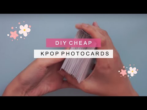 diy kpop photo cards『200 cards for under $6』