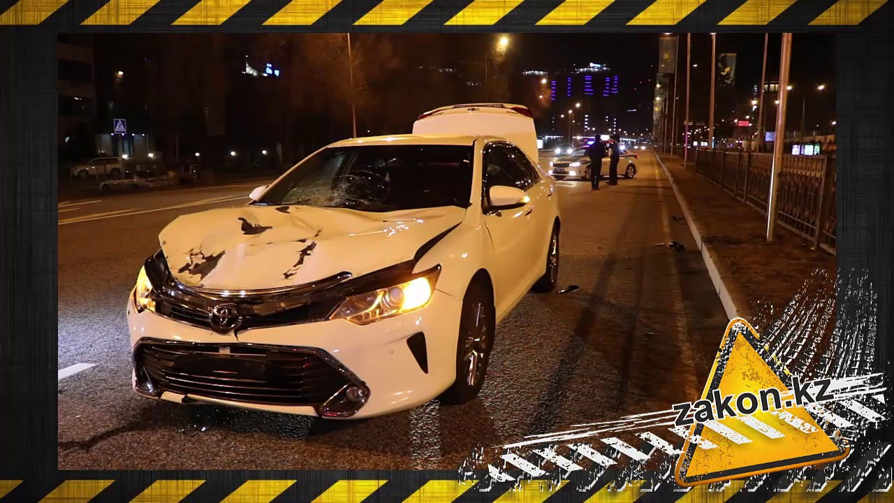 В Алматы автомобиль Toyota насмерть сбил женщину