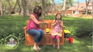 Children's Kids Wooden Garden Storage Bench By Kidkraft