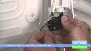 Hoe vervang ik de thermostaat in een koelkast