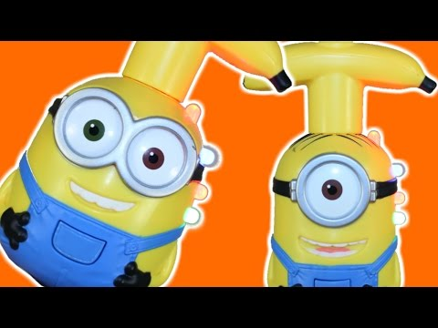 NEW MINIONS BOB STUART FUNNY TALKING LIGHT UP SPINNING TOYS MINION MOVIE 2015