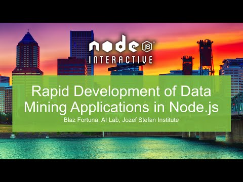 Rapid Development of Data Mining Applications in Node.js