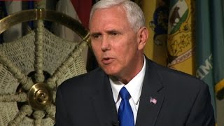 Pence  I don't see direct talks with N  Korea right now
