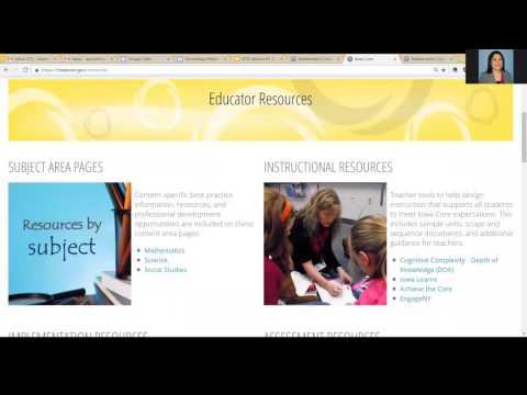 Iowa Department of Education Mathematics Overview