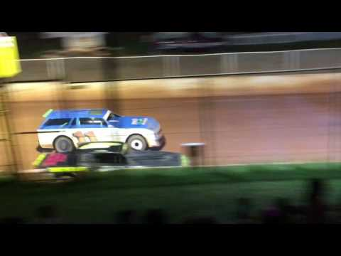 "Carl ""MailMan"" Maree #2 Renegade Car-September 3, 2016-East Lincoln Speedway - Main Race"