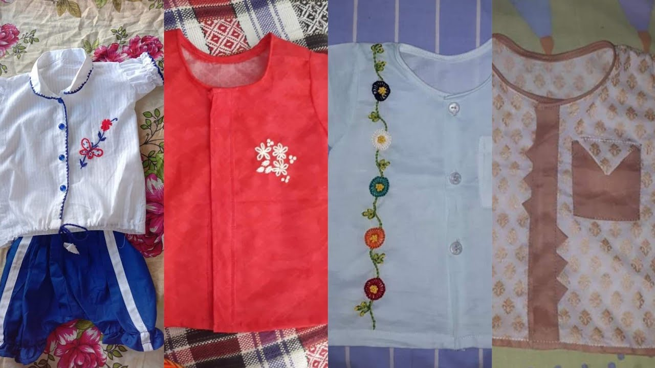 New born baby boys beautiful handmade summer dresses designs hand embroidery designs eid collection