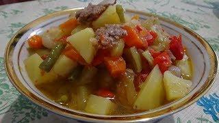 Лагман Уйгурский дома . Супер быстрый рецепт. Легко, просто и удобно.