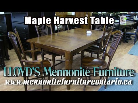 Mennonite Harvest Table, Mennonite Furniture Gallery Toronto.