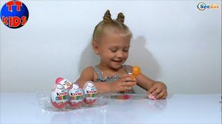 ✔ Хелло Китти. Девочка Ярослава открывает Шоколадные Яйца с Сюрпризом / Hello Kitty Surprise Eggs ✔