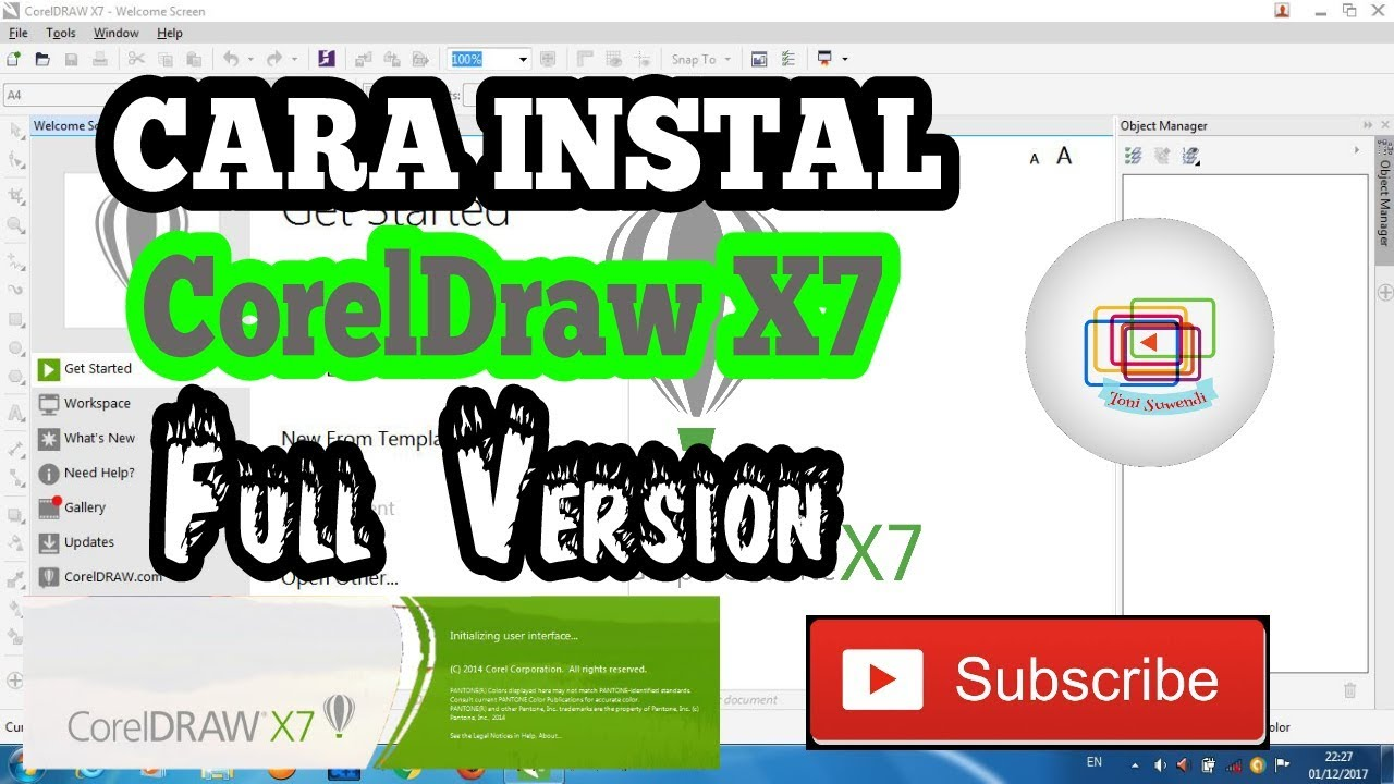 Cara Instal Coreldraw X7 Full Version Tutorialinstal01 Youtube
